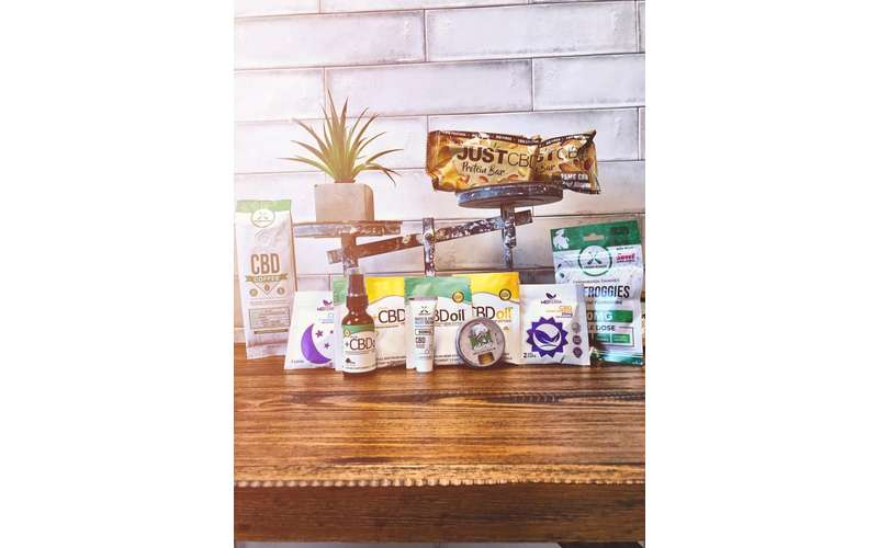 selection of cbd products on a table