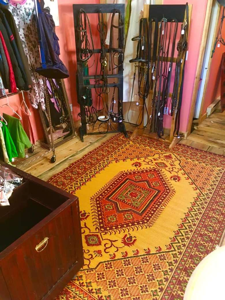 Mad Mat Upcycled Plastic Woven Oriental Rugs Ideal for Mudroom or tackrooms!