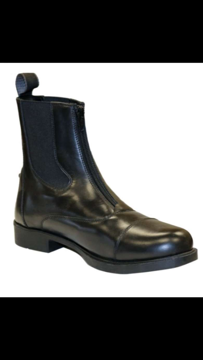 New Leather Zip Paddock Boots! Only $125