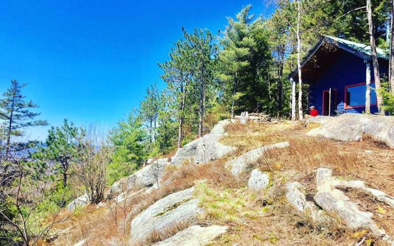small cabin on mountain