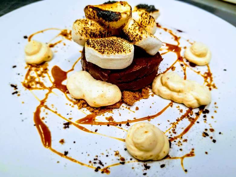 smores on a plate dessert