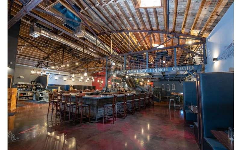 large open bar area