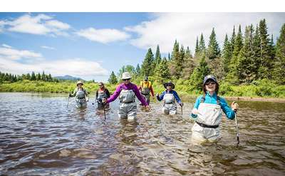 Wading in the Ausable River