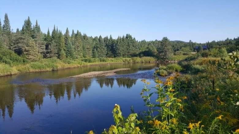 The scenic Ausable River near Lake Placid