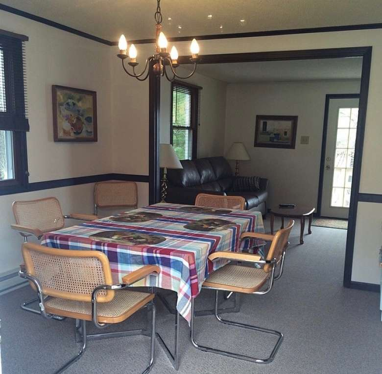 dining room table with chairs around it