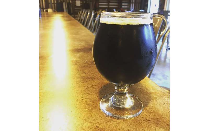 stout in a beer glass