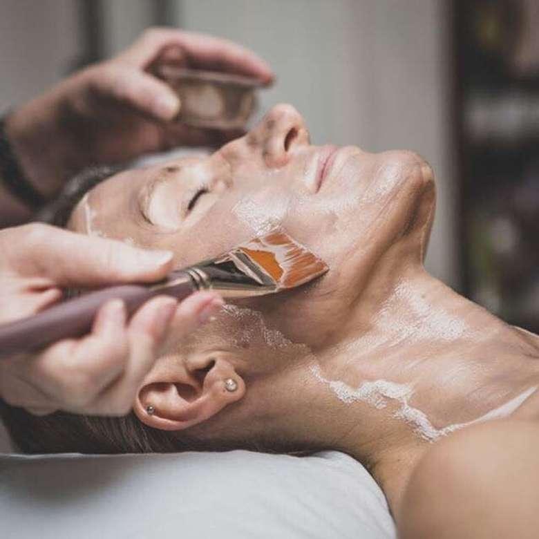 woman receiving a skin treatment