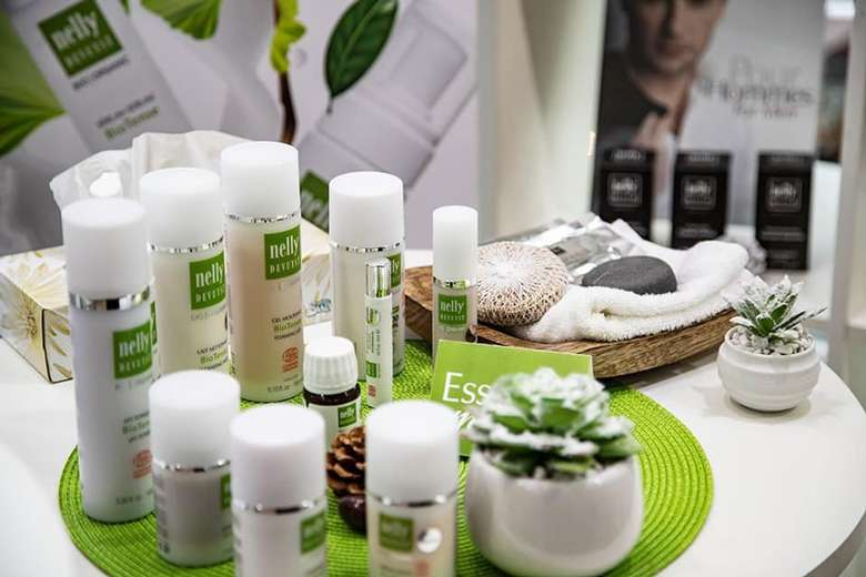 a collection of spa products