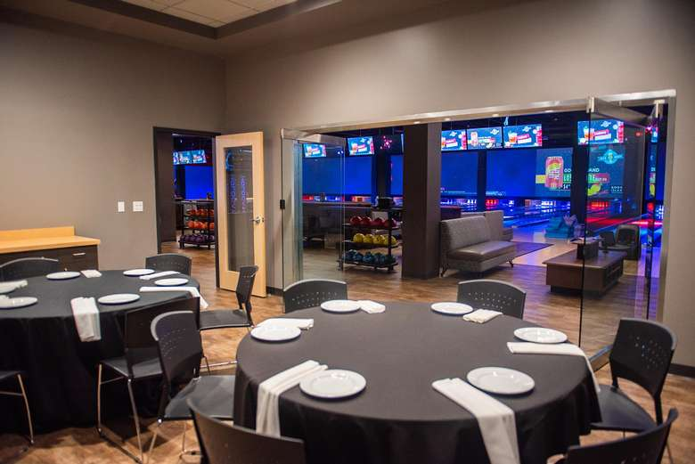 event room with round tables