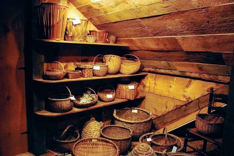 baskets on display