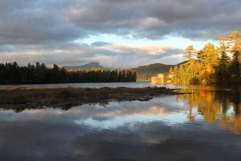 Fall on Lake Placid