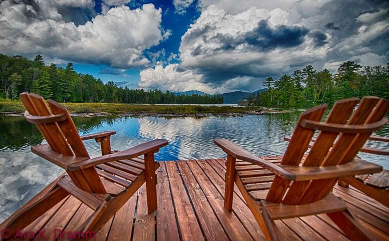 Relax in an Adirondack chair on the Lake