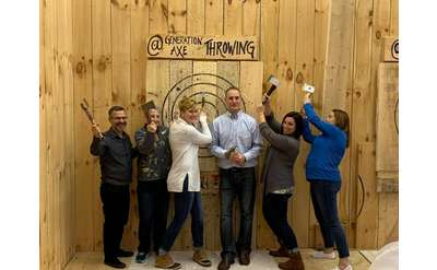 people by axe throwing target