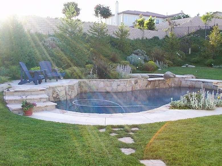 concrete around an outdoor pool