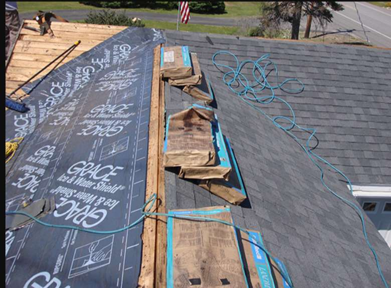 roof of a house under construction