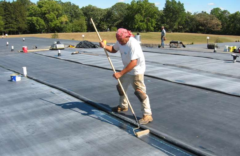 roofers working on a project