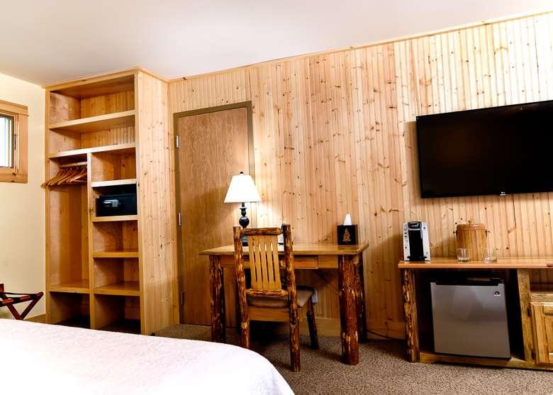 TV, desk, etc. in hotel room