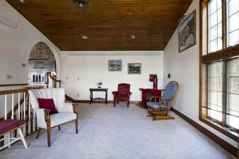 upstairs living room area