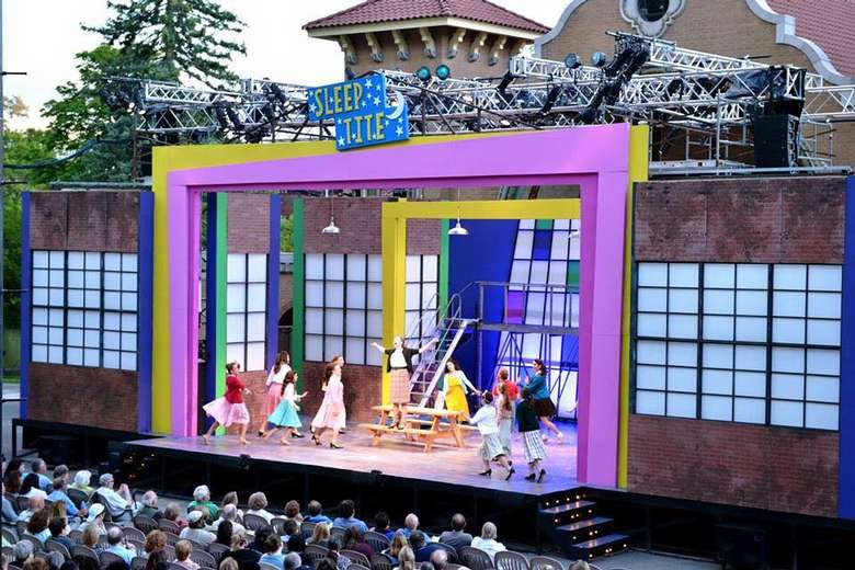 view of a musical happening on an outdoor stage