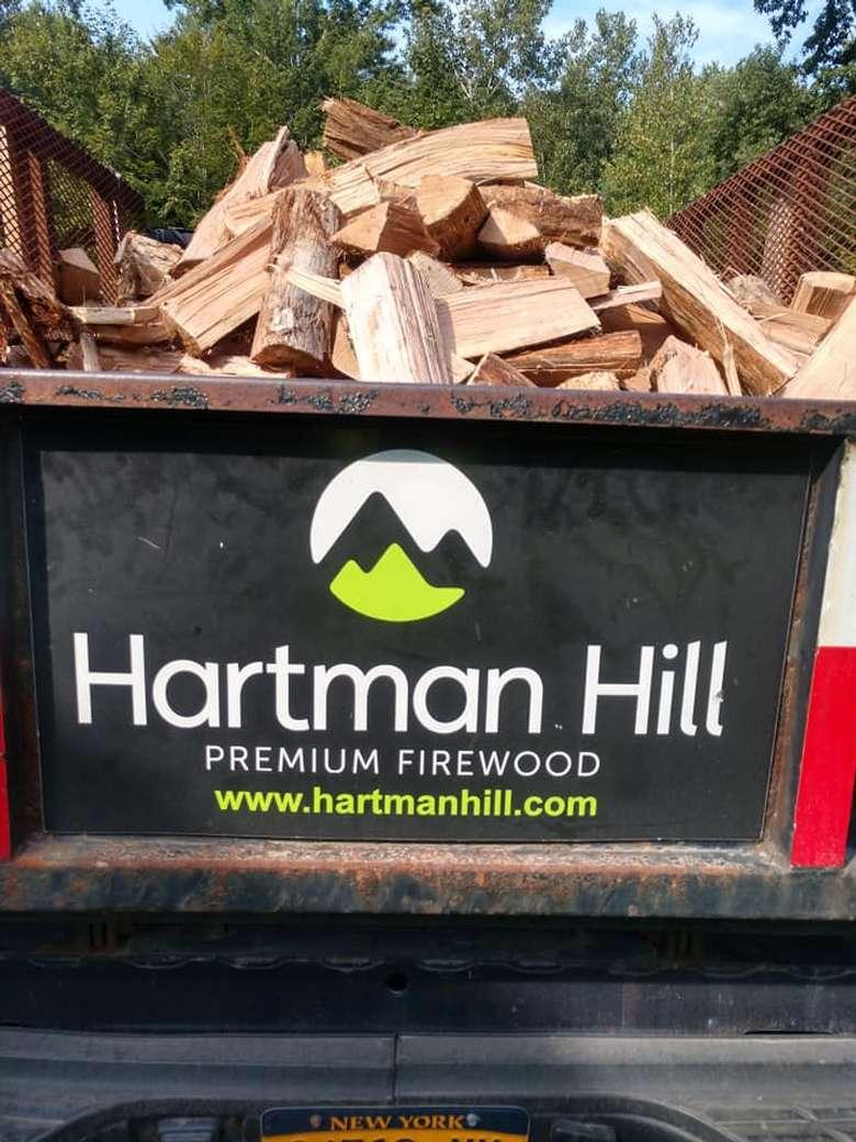 firewood in truck