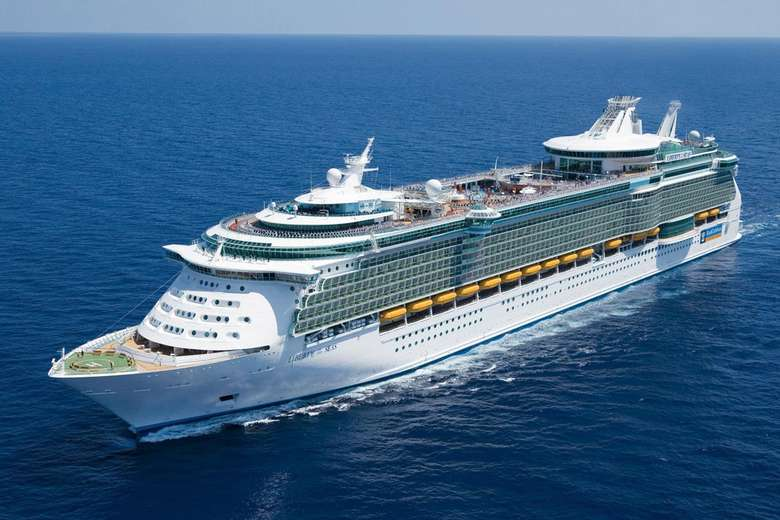 a large cruise ship in the ocean