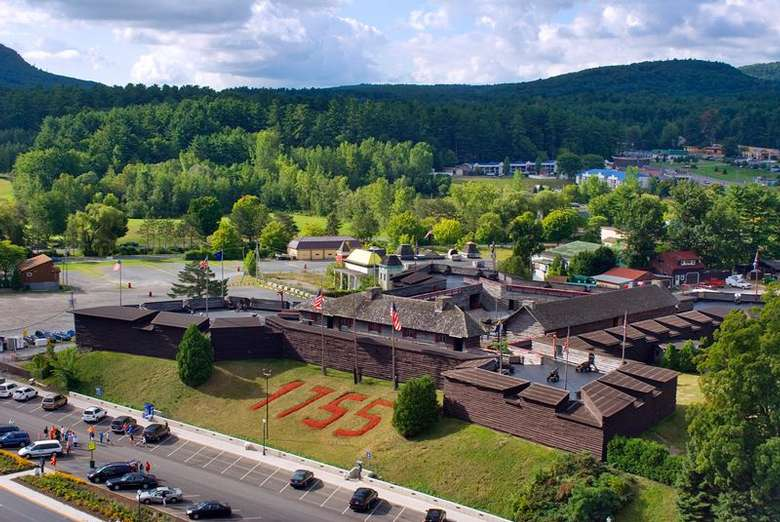 aerial view of the fort william henry museum
