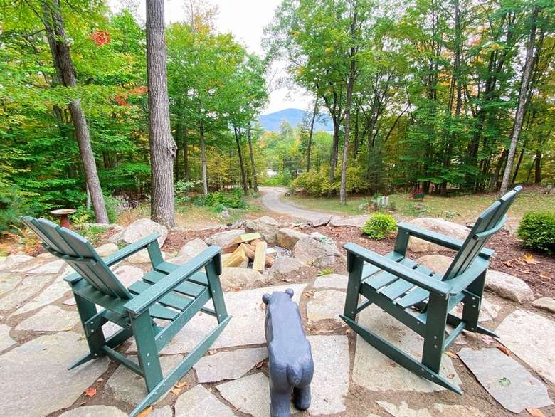 Adirondack chairs outdoors