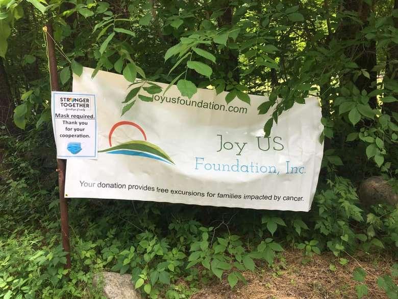 Joy US Foundation sign