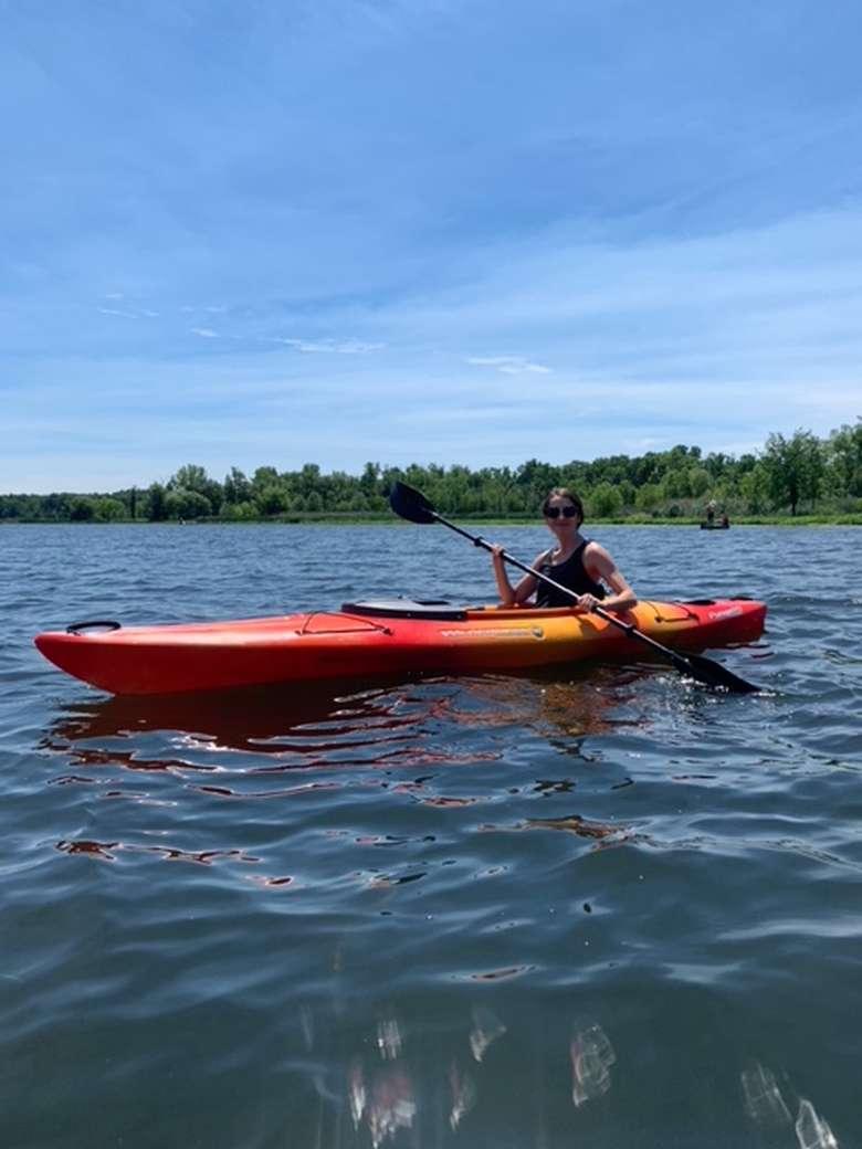 girl in a kayak
