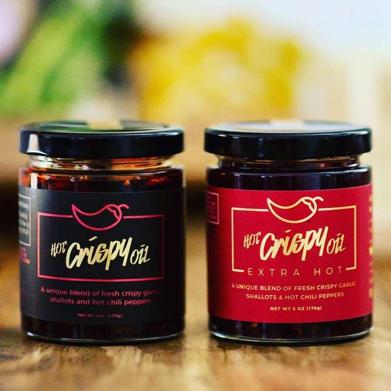 two jars of Hot Crispy Oil