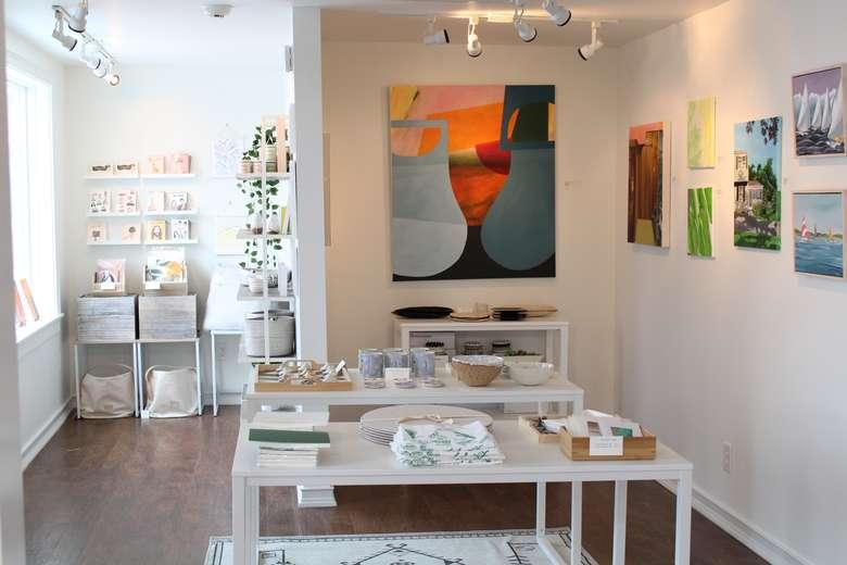 Interior shot of shop