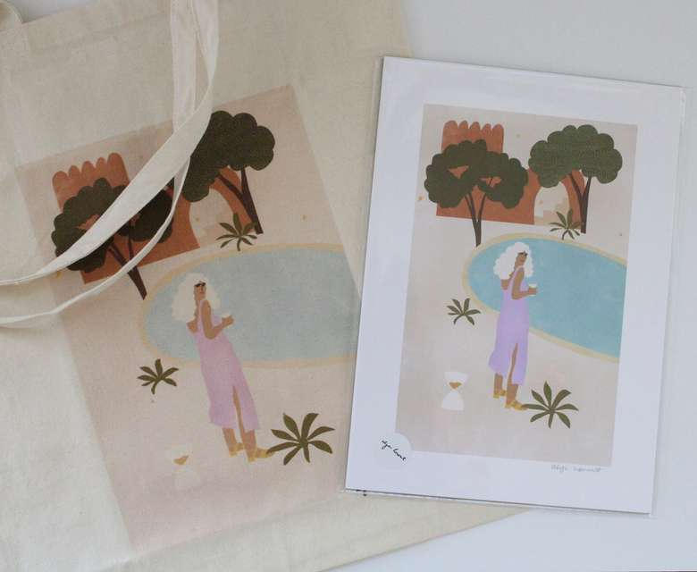 prints and tote bags