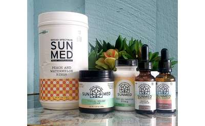 five sunmed products on display