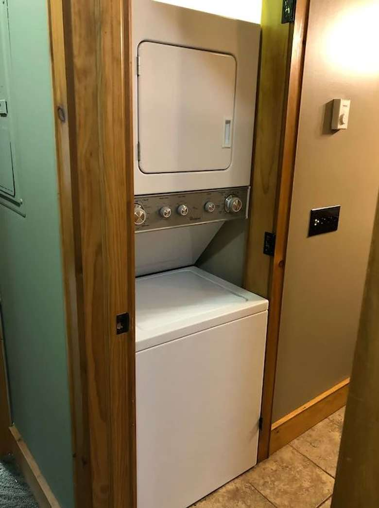 a washer and a dryer