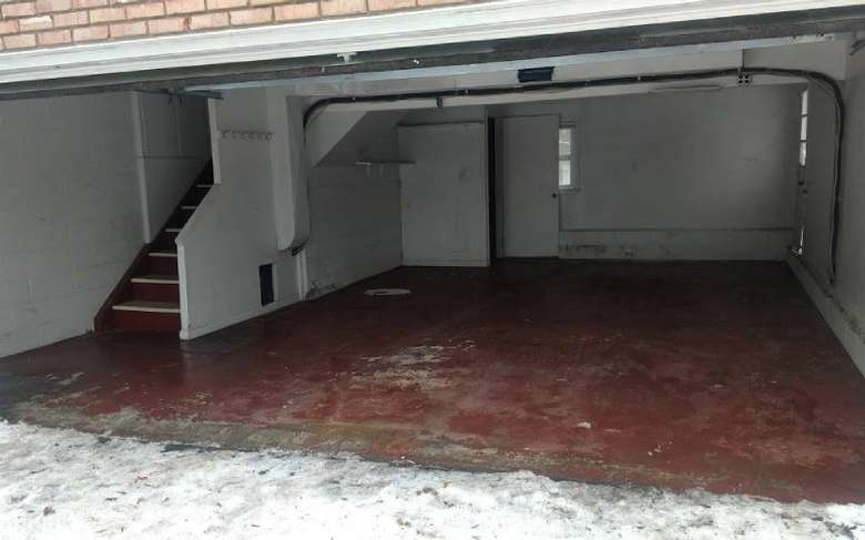 an empty garage