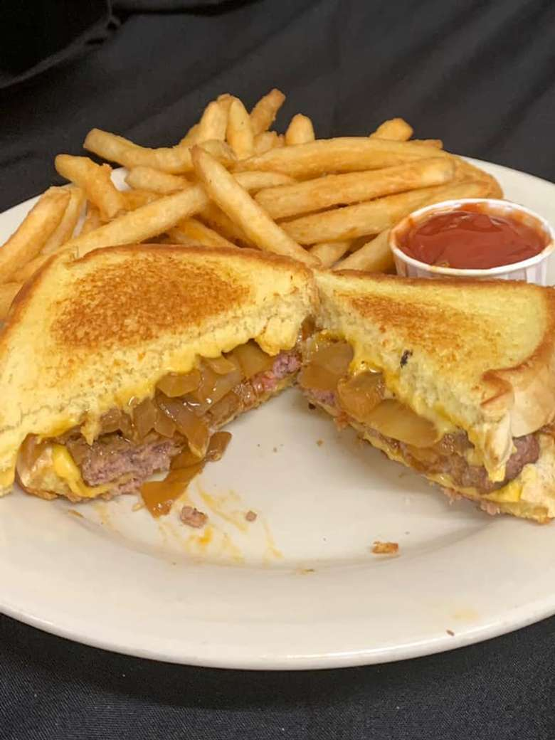 fries and a sandwich