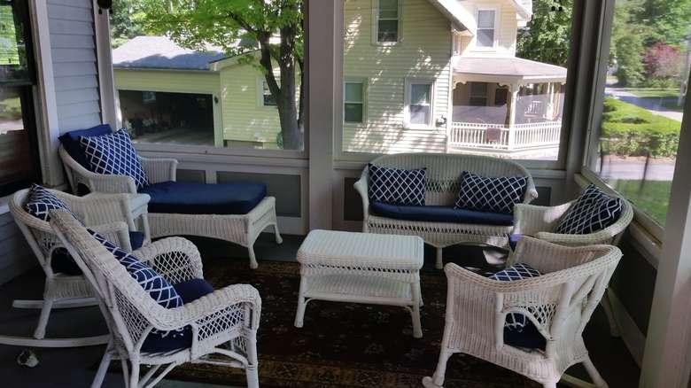 furniture in a porch
