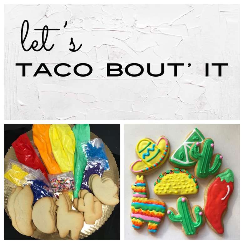 taco themed cookies