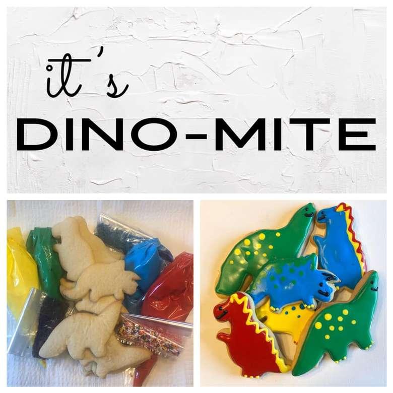dinosaur themed cookies