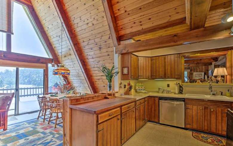 kitchen area in a chalet