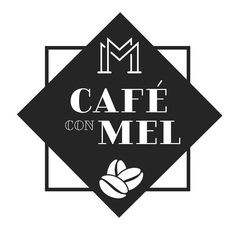 logo for cafe con mel