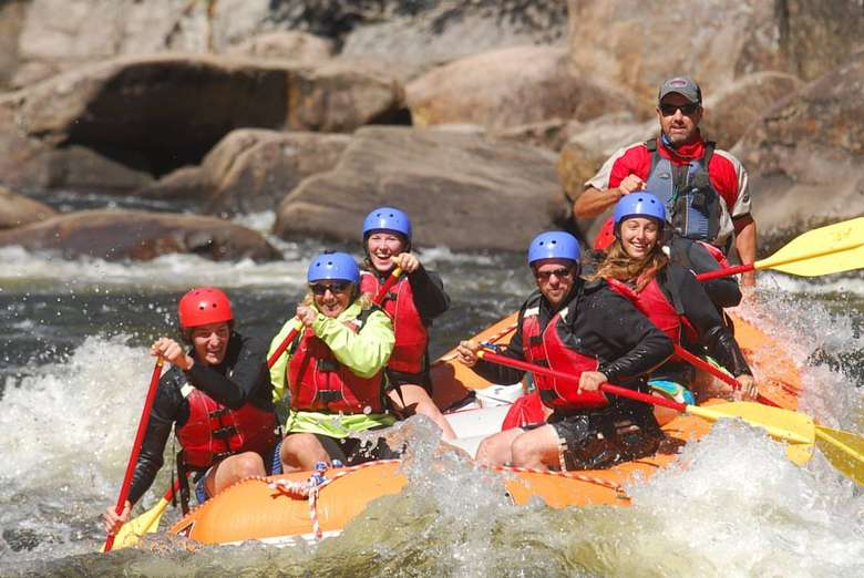 whitewater rafting group