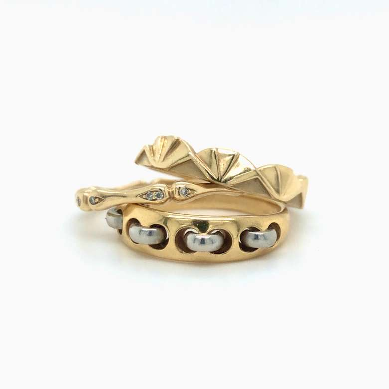 Stack of gold rings