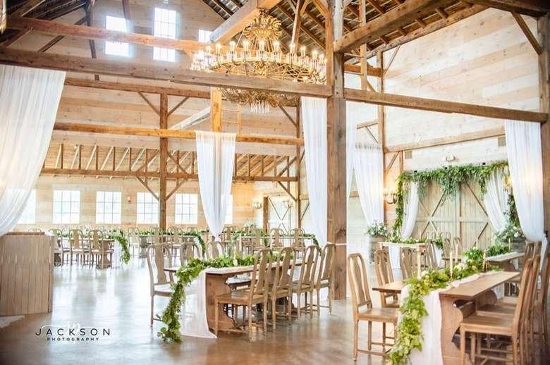 a spacious rustic event venue
