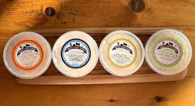 tubs of cheese products