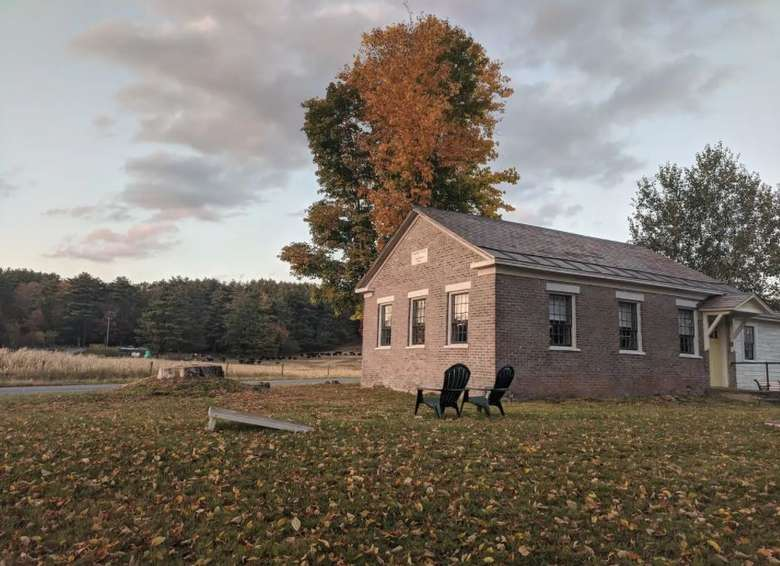schoolhouse rental in the fall