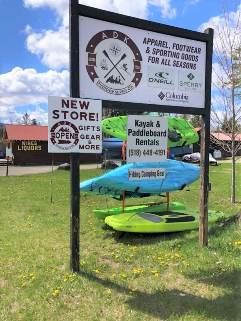 sign outside adk outdoor supply co.