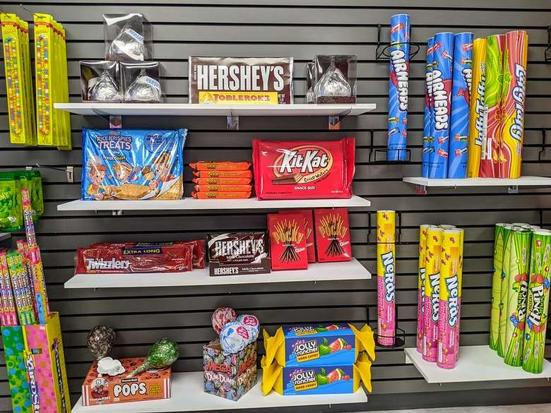 classic candy on display
