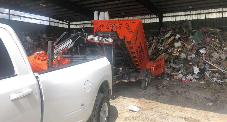 dumpster and trash