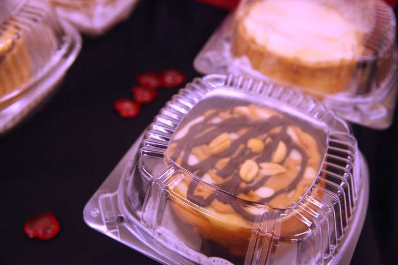 desserts in plastic containers